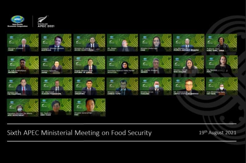 APEC BUSINESS ADVISORY COUNCIL  REMARKS TO THE APEC MINISTERIAL MEETING ON FOOD SECURITY